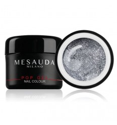Mesauda GEL UV COLORATO POP GEL 04 Glitter Silver Screen