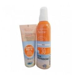 Avene Latte Spray Solare Corpo SPF30 200ml Con Trixera Detergente 100ml In Omaggio