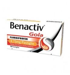Benactiv Gola 16 pastiglie Arancia Senza Zucchero