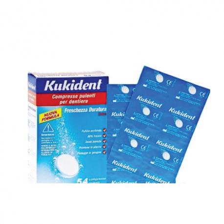 Kukident Cleaser Compresse Pulizia Dentiere - 54 pezzi