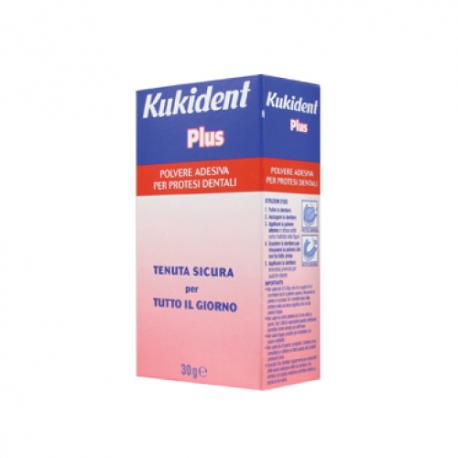Kukident Plus Polvere Adesiva per Dentiere - 30gr