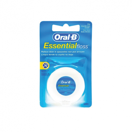 Oral B Essential Floss Filo Interdentale Cerato - 50mt